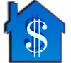 Dollar Symbol on House